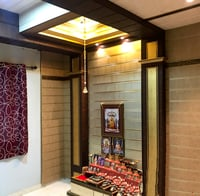False Ceiling For Pooja Rooms