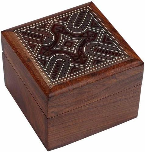 Brown Square Wooden Box