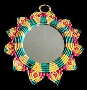 Macrame Mirror For Home Interior At Price Range 200 650 Inr Set In Goa Salgaonkar Services Private Limited