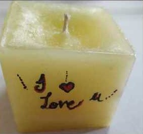 Non Scented Printed Candles