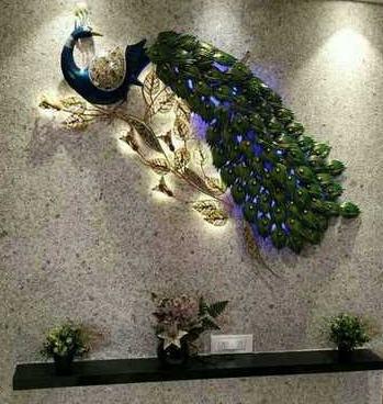 Metal Peacock Wall Decor