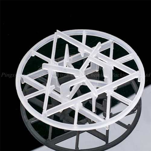 Srubber Tower Packing 90mm Plastic Intalox Snowflake Ring
