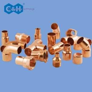 Degreased Clean Seamless Copper Tubes fittings