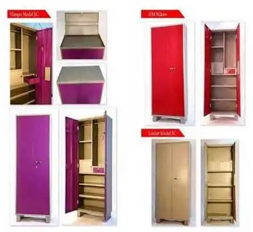 Red Cream Pink And Custom Color Stainless Steel Wardrobe For