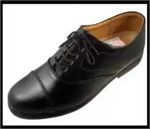 Black Color Oxford Shoes Heel Size: Medium