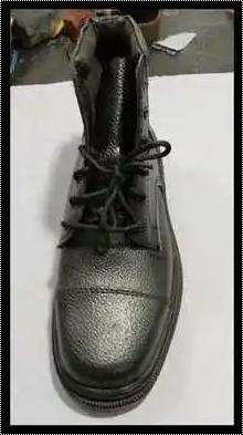 Leather Black Color Security Shoes