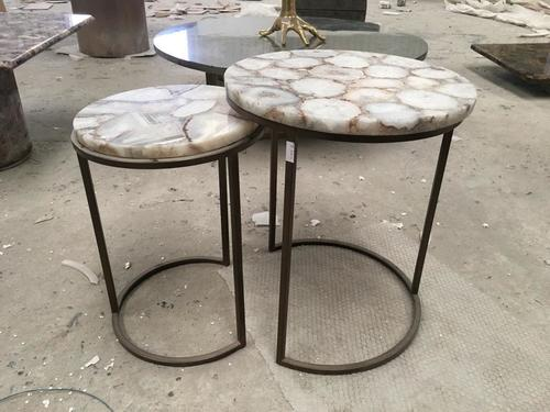 Metal With Marble Table