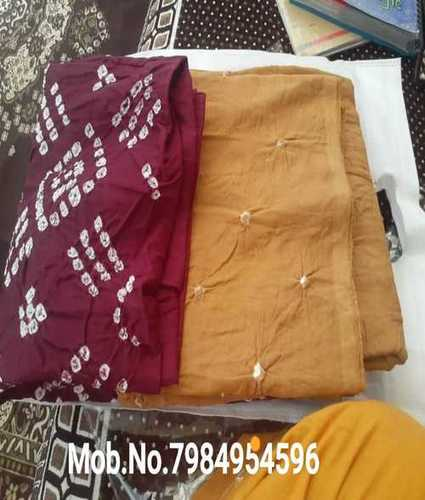 Cotton Bandhani Dress Material