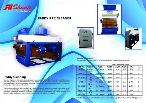 Paddy Pre Cleaner Machine