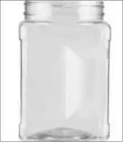 Plastic Screw Type Cap Pet Jar