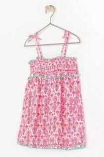 Zara Ethnic Girl Pink Printed Top