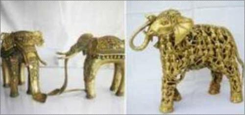 Brass Polished Elephant Statue