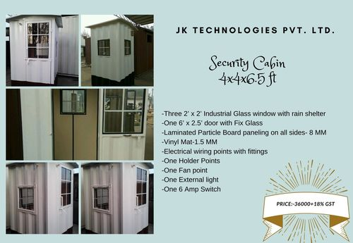 Security Cabin 4x4x6.5 ft