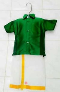 Kids Silk Shirt With Lungi