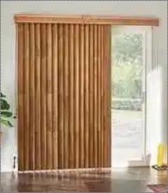 Wooden Vertical Blinds For Door