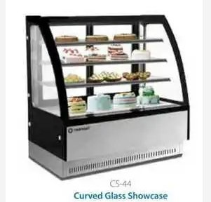 Crack Resistance Curved Glass Showcase Pastry Cabinet