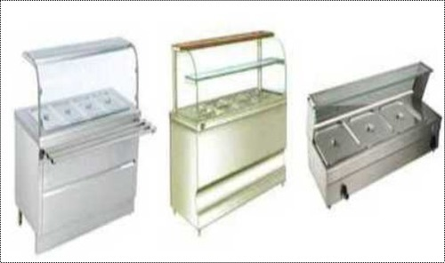 Stainless Steel Fast Food Counter, Thickness: 2-20mm