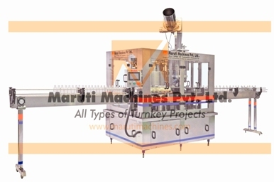 Alcoholic Fully Automatic Glass Bottle Rinsing Filling Crown Capping Machine