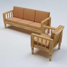 Modern Solid Wood Sofa