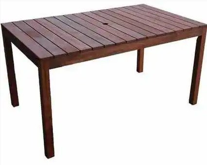 Outdoor Polished Wooden Table