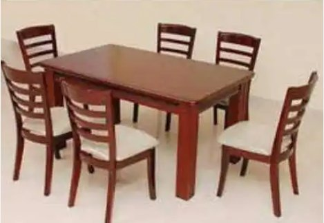 Six Seater Wooden Dining Table