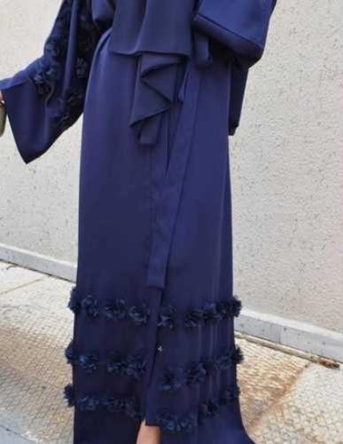 Latest Beautiful Navy Blue Abaya