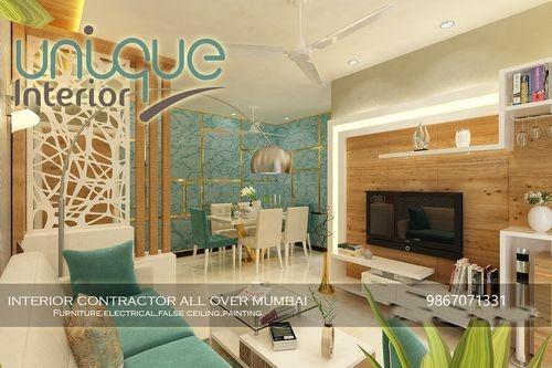 Living Room Interior Design Services At Best Price In Mumbai Maharashtra Unique Interiors Solution