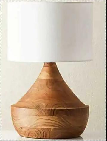 Decorative Wooden Base Table Lamp