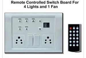 Remote Controlled Switch Board For 4 Light And 1 Fan
