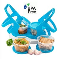 RSTC Lunch Box with Attractive Stand - 4 pcs (200ml Each Container)