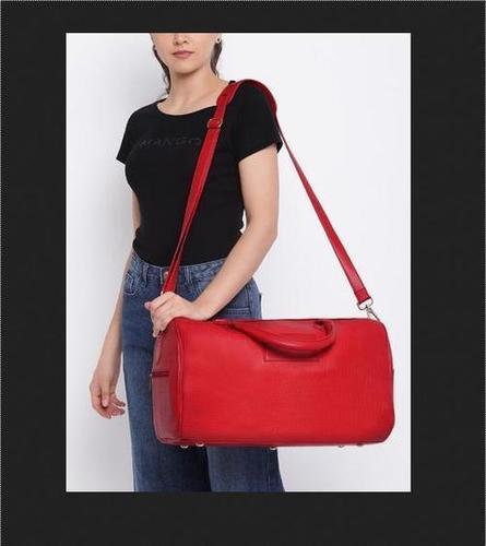 Designer Leather Duffel Bag