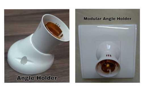 White Angle Lamp Holder