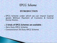 EPCG Certification Services