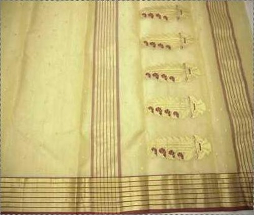 Chanderi Border Tissue Saree