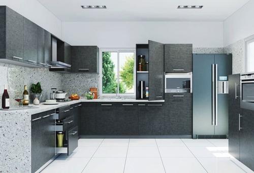 L Shaped Designer Modular Kitchen