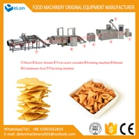 Automatic Fried Corn Doritos Bugle Chips Snacks Food Making Machines