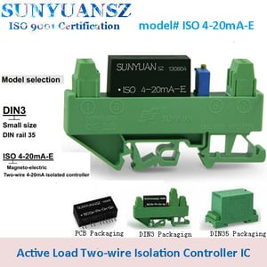 Two-wire 4-20mA Active Input Isolated Loop Powered Signal Converter