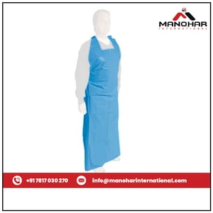 Blue Colored Medical Disposable Apron