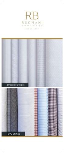 White Dobby Shirt Fabric