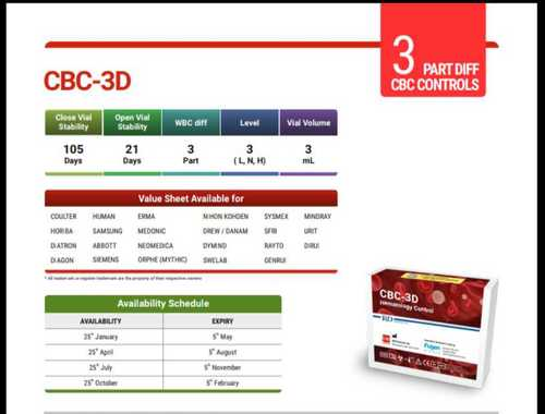 Hematology Control From R And D Reagents