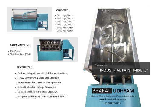 Ribbon Type Industrial Paint Mixer