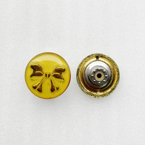17mm Custom Fashion Metal Gold Butterfly Logo Alloy Jean Button For Garment Accessories Hd118-19
