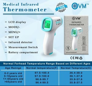 Infrared Thermometer With High Temperature Alarm