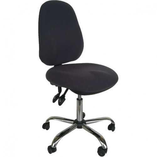 Adjustable Height Black Esd Chair With Wheels