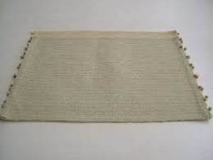 Creamy Square Placemats for Floor