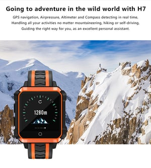 H7 Mens GPS Android 4G Sport Wrist Watch