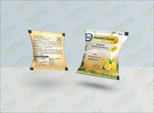 Handsclean Instant Hand Sanitizer Gel Pocket Sachet Pouch