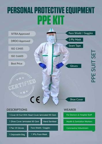 Ppe Kit (Personal Protective Equipment) Application: Clinic
