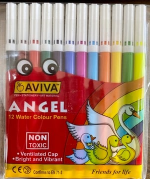 Sketch Pens With Ventilated Cap