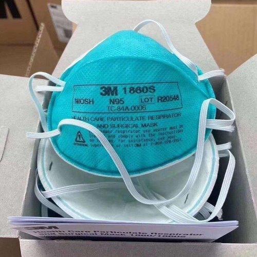 Blue Colored N 95 Facial Respirators Application: Medical and domestic